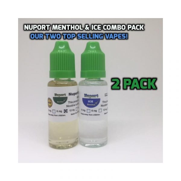 2 Pack of Top Selling Vape. Menthol & ICE.
